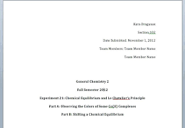 Chemistry Cover Page Template Lab Report Science Presentation Design ...
