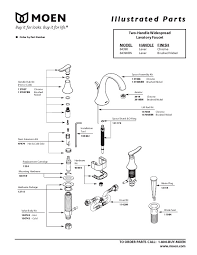 moen faucet replacement parts bathroom awesome single handle kitchen diagram home design ideas expert portrayal or