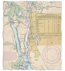 Nc Wilmington Nc Nautical Chart Silk Touch Throw Blanket