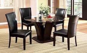 Furniture of America Coble Dark Cherry 5-Piece Round Glass Top ...
