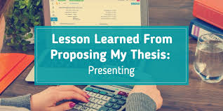 Lesson Learned From Proposing My Thesis Presenting Make Write Learn