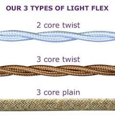 fabric lighting cable 3 core. Fabric Covered Lighting Flex. Cable Holder With Cloth 3 Core
