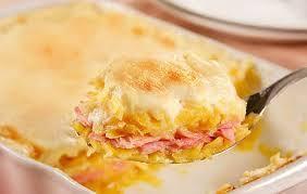Resultado de imagem para Escondidinho de batata com presunto e queijo.