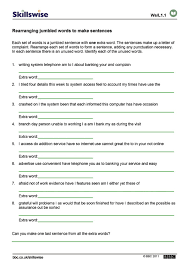 Sentence Ordering Worksheets Worksheets for all | Download and ...