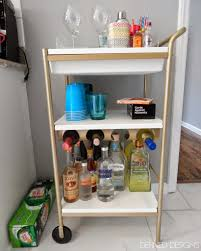 Defined Designs Party On Wheels Ikea Hack with regard to ikea bar cart  design ideas for