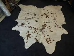 brazilian cowhide rugs premium cowhide rug a pure white coat with beautiful brown markings brazilian brindle brazilian cowhide rugs