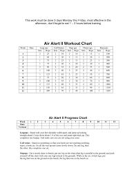 Air Alert Ii Workout Chart