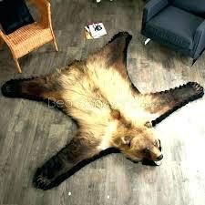 faux polar bear rug skin stylish inspiration with head fake real genuine