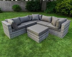 patio outdoor rattan wicker 6pc corner