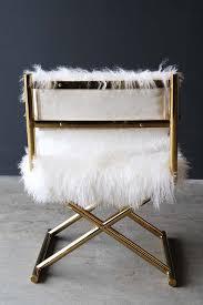 mongolian fur directors chair