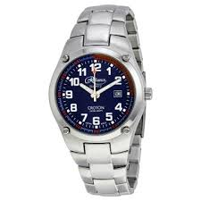 croton watches jomashop croton reliance by blue dial stainless steel men s watch