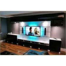 black white wall mounted led tv