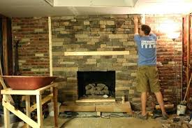 reface brick fireplace wonderful new ideas reface brick fireplace with stone natural stone veneer intended for
