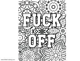 Inappropriate Coloring Pages Fuck Off Free Printable Coloring Pages