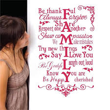 Thankful For Family Quotes Custom Large Size House Rules Be Thankful Always Forgiveromantic Family