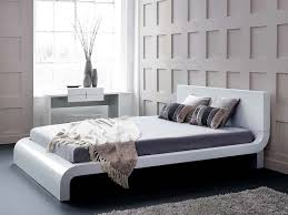 Well Suited White Modern Bedroom Furniture Roma Bed Platform ...