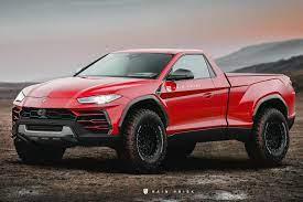 A Lamborghini Pickup Would Destroy The Ford F 150 Raptor Carbuzz