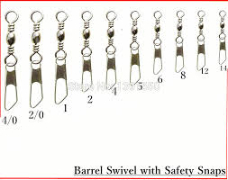 100pcs 2 0 70cm Test 34kg Fishing Snap Swivels Brass Barrel