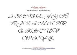 Uppercase Calligraphy Pdf Chart