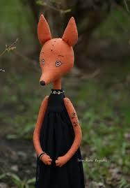 Handmade doll fox. #fox #doll #art #toys #heirloom #rag #stuffed ...