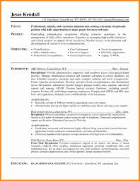 Medical Receptionist Resume Examples Entry Level Assistant Samples