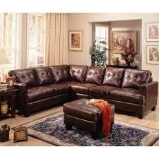 Coaster Samuel Contemporary Leather Sectional Sofa Coaster Fine
