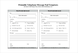 Telephone Message Pad Template Free Phone Memo Redautos Co