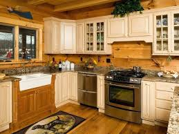 cedar kitchen cabinets these kitchen cabinets were painted red to complement the tones of the cabins