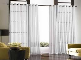 white curtains for sliding glass doors