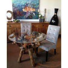 chic teak furniture. Beautiful Teak Chic Teak Furniture Root Dining Table Including A Round 48 Inch  Glass Top And Chic Teak Furniture E