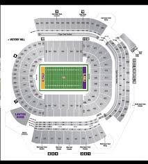 Lsu Tiger Stadium Seating Chart With Seat Numbers Lsu Football Season Tickets Excluding Alabama Game Section