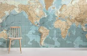 vintage nautical map wallpaper