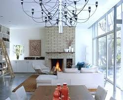 modern living room with brick fireplace. Modern Brick Fireplace Beach Residence Living Room Whitewashed Fireplaces With D