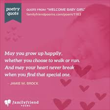 pink welcome welcome baby girl baby poem