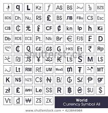 World All Currency Symbols Currency Sign Stock Vector Royalty Free
