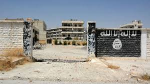 isis main office. Plain Main A School That Was Used By The Islamic Stateu0027s Fighters In Northern  Syrian Town Of Throughout Isis Main Office N
