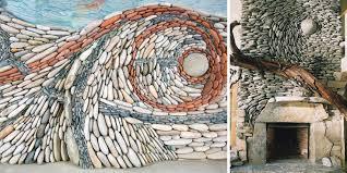 the ancient art of stone couple creates beautiful rock wall art installations bored panda on rock art wall hanging with the ancient art of stone couple creates beautiful rock wall art