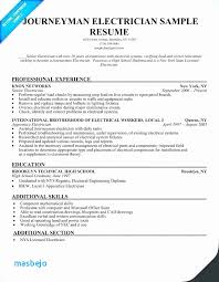 Electrician Resume New Electrician Resume Journeyman Electrician Resume Elegant Sample