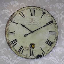 great large vintage wall clock extra french style melody maison cafe uk art mirror decor map