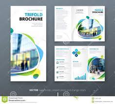 Fold Flyer Business Tri Fold Brochure Design Blue Green Corporate Business