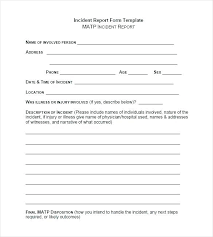 Work Availability Form Template Accident Forms Best Of Incident