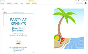 How To Create Invitations On Word How To Make Summer Party Invitations In Word