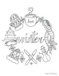 Winter Coloring Pages Free Free Winter Colouring Pages Winter ...