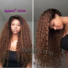 Beshe Wig Color Chart Two Tone Black Ombre Coffee Brown Color Water Beach Kinky Curly Hair Lace Wig Synthetic Lace Front Wigs For Chocolate Skin Women Short Lace Front Wigs
