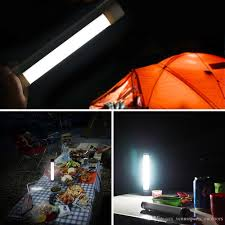 Led Emergency Light Stick Lamp For Outdoor Rechargeable Portable 3 Level Adjustable Brightness Usb Charge Sos Mode Tube Light For Outdoor