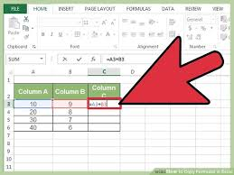 copying a formula into multiple cells by pasting