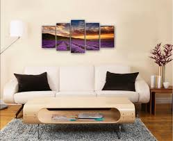 modern art for office. Amazon.com: Wieco Art Provence Lavender Canvas Prints Wall Purple Flowers Picture Paintings For Living Room Bedroom Home Office Decorations 5 Piece Modern O