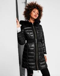 ted baker amandea long hooded puffer coat black ted baker jackets coats ted baker