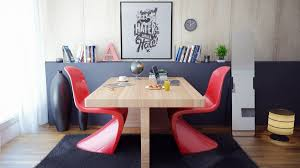 black red dining room table