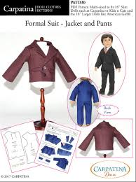 Suit Pattern Adorable Carpatina Formal Suit Jacket And Pants 48 Inch Boy Doll Clothes